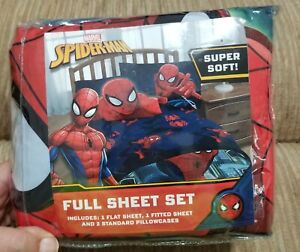 Marvel SPIDER-MAN FULL Sheet Set SUPER SOFT