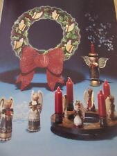 HEAVENLY FOLKS TOLE PAINTING BOOK MCELROY ANGELS WREATH ANTIQUING GLAZING INSTR.