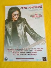 GENE SIMMONS - KISS - 2018 RESCHEDULED Tour - Laminated Promo Poster