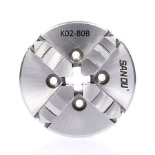 "80MM Lathe Chuck 4 Jaw 3"" M5 Mount Self Centering for CNC Wood Lathe Machine"