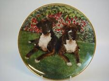 DANBURY MINT THE BOXER DOG TOGETHERNESS PLATE