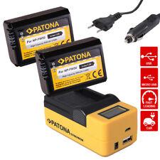 Ladegerät USB LCD + 2x Akku f Sony NP-FW50 A7/S/R A3000 Α6000 ALPHA 6300 ILCE-63