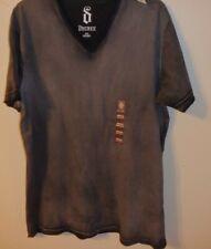 sz S Black Cap Sleeve V-Neck T-Shirt NWT Decree