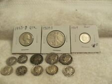 """Lot of (10-90% & 3-35% Silver U S Mint Coins """"Free s/h"""""""