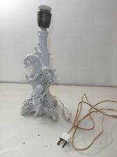 antico candeliere lampada porcellana dipinta Capodimonte Colonna putti