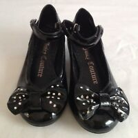 Juicy Couture New & Gen. Black Leather Patent Shoes Girls UK Size 12 EU 31 US 13