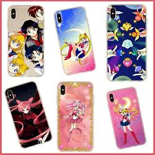 Cute Pink Anime Sailor Moon Phone Case Cover For iPhone 7 8 X XS XR 11 PRO MAX