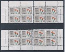 Canada #425 Saskatchewan Prairie Lily Matched Set Pate Block MNH *Free Shipping*