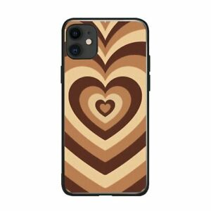 Coffee Heart Phone Case  For IPhone 11 PRO Max XR 12 Pro Latte Silicone  Max