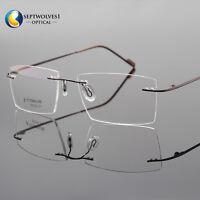 Rimless β-Titanium Eyeglass Frame Ultra light Glasses Optical Eyewear RX Able