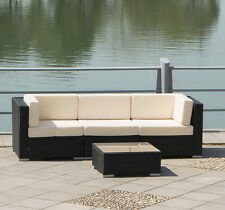 Outdoor Rattan PE Wicker Sofa Set Patio Pool Garden Sectional Cushion Furniture
