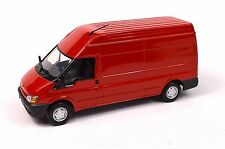FORD TRANSIT 6 HIGH ROOF VAN 2000 RED DEALER MODEL MINICHAMPS 20038 1:43 NEW
