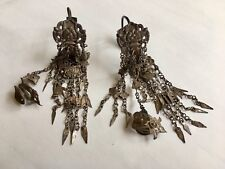 Antique Chinese minority's silver wedding earrings