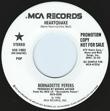 BERNADETTE PETERS Heartquake ((**NEW 45 DJ**)) from 1980