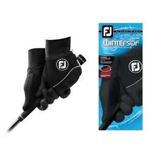 Footjoy FJ WinterSof Men's Golf Gloves NEW BLACK Left & Right Hand 1 Pair