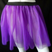 Purple Net Mesh Tutu Mini Skirt S Festival Rave Club Goth Fairy Punk Halloween