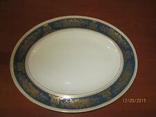 Wedgewood Blue & Gold Columbia Fine Bone China Oval Serving Platter