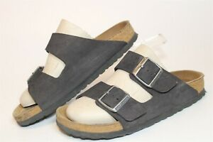 Birkenstock Womens Size 6 37 Arizona Soft Foot Suede Slides Germany Made Shoes