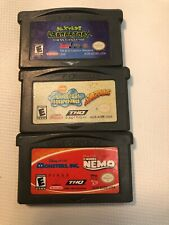 Gameboy Advance Dexters Lab Chess Supersponge Monsters In Finding Nemo Lot 3 Gam