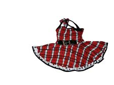 Girl Curtain Call Costume E3962 Red Black Plaid Polka Dot 50s Dance Size CLA L
