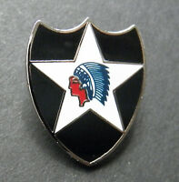 US ARMY 2ND INFANTRY DIVISION LAPEL PIN HAT BADGE 1 INCH