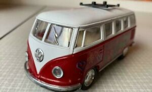 """Kinsmart Diecast Toy Car  -  VW Volkswagen Classical Bus (1962) - Approx 5"""" Long"""
