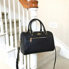 New Coach Rowan Black Leather Satchel Bag F79946