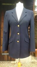 DAKS Signature Navy Blue Blazer Riding Jacket Size UK12 EU40