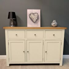 Large Sideboard Painted Cream Oak / Oak Cupboard / Solid Wood / Cotswold