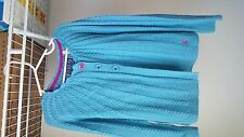 FALL LITTLE JOULES BRIGHT BLUE MARIAN SWEATER CARDIGAN SIZE 7