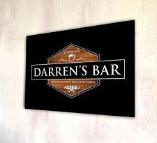 Effetto Legno Personalizzato hexogan birra etichetta in metallo A4 sign Pub & cocktail bar