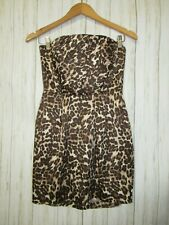 Naven Revolve Strapless Cheetah Print Party Dress Size Medium