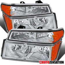 For 2004-2012 Colorado Canyon Clear Headlights w/ Corner Turn Signal Lamps Pair