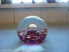 1982 Selkirk glass paperweight Electra