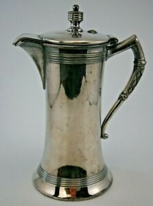 Victorian Webster MFG Co. Silverplated Syrup Pitcher, Spider Web Mark