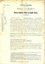 Procès-Verbal de Délit de Grande Voirie. Ponts et Chaussées. Toulouse 1861