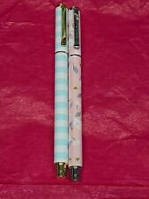 Simply Gilded Blue Striped A Floral Bees Pen