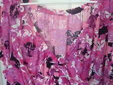 Lane Bryant Pink Floral V Neck Empire Waist Top Blouse Plus Size 22/24 3x NWOT