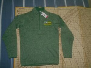 MENS MEDIUM GREEN ANTIGUA PACKERS ADORNED LS PULL OVER SWEATER - NWT