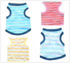 New Summer Spring Pet Clothes Cotton Stripe Vest For Small Dog And Cat Size XS-L