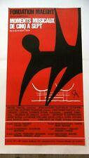 CALDER Affiche originale litho Moments musicaux Lithograph original poster 1974