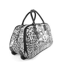 Mujer Leopardo de impresión Bolsón Carrito Bolsa Viaje Equipaje mano