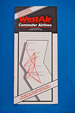 WestAir Commuter Airlines Timetable - Jan 4, 1984