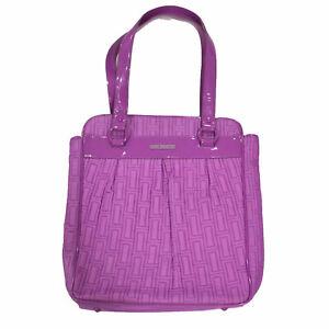 Vera Bradley City Look Tote Purple Bag Casual Handbag Purse Damaged Nwot New Vb