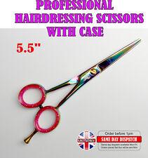 "5.5"" Barber Hair Shears Titanium Razor Sharp Professional Hairdressing Scissors"