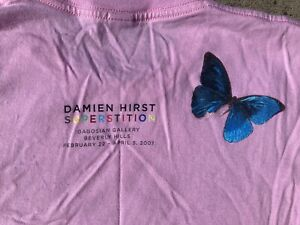 Damien Hirst 2007 SUPERSTITION T Shirt Gagosian Beverly Hills Butterflies Sm M