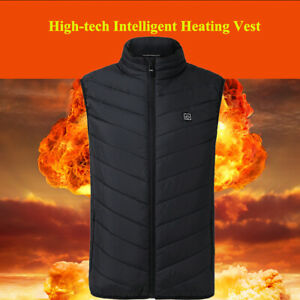 Heated Vest Warm Body Electric USB Men Women Heating Coat Jacket Winter Clothing