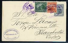 Nicaragua Postal Stationery PSE - H&G #78a 1914 Uprated TYPE 5 to MANCHESTER $$$