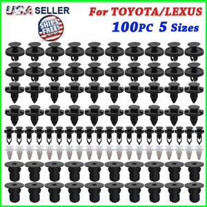 100x TOYOTA & LEXUS Trim Panel Clips Bumper Fender Push Pin Rivet 7 8 9mm Engine