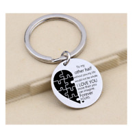 To My Other Half Forever Yours Keyring Puzzle Love Husband Wife Valentine Gift
